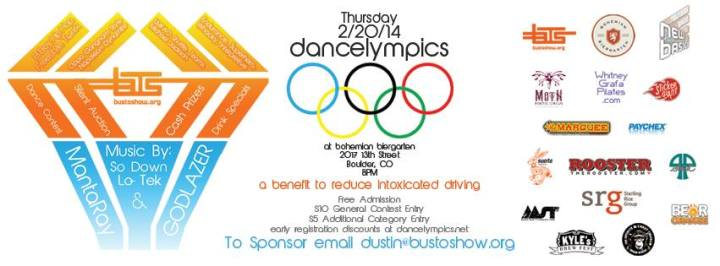 TOMORROW NIGHT!!! BUS TO SHOW PRESENTS: Dancelympics – A Dance Contest Benefit to Reduce Intoxicated Driving