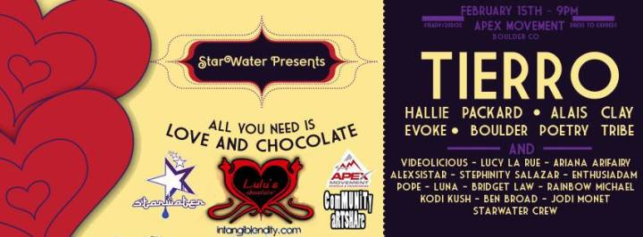 "StarWater Elixir Bar Presents: ""All you need is Love and Chocolate"""