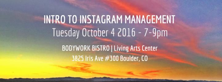 Social Media Workshop: Intro To InstagramManagement