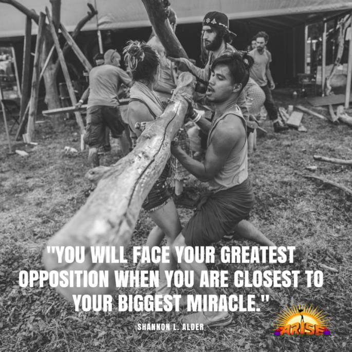 You will face your greatest opposition when you are closest to your biggest miracle.