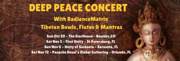 RadianceMatrix ~ DEEP PEACE CONCERTS &MUSIC!