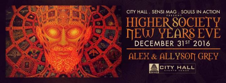 Higher Society New Years Eve at City Hall in Denver with Alex & Allyson Grey!