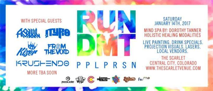 FREE SHOW! Run DMT at THE SCARLET in Central City, CO THISSATURDAY!