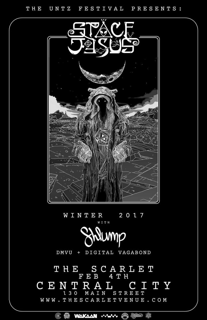 WIN TICKETS to Space Jesus & Shlump at The Scarlet this SATURDAY 2/4/17!