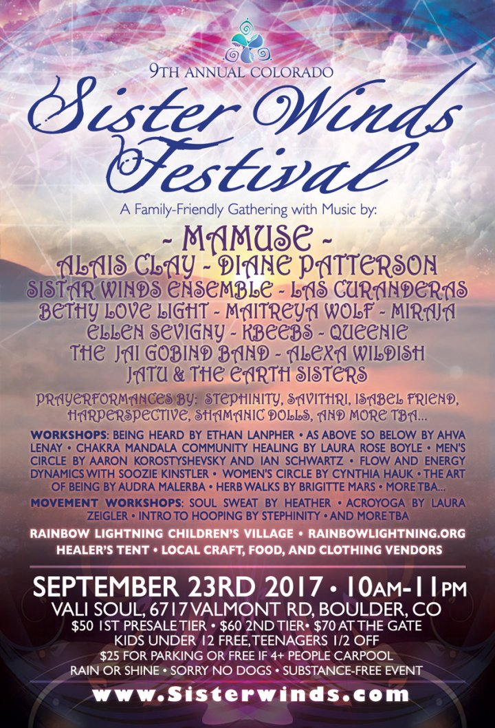 Excited to celebrate my 25th Birthday & The Fall Equinox at the 9th Annual Sister Winds Festival in Boulder,CO!