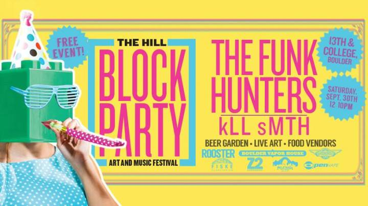 The Hill Block Party: Art and Music Festival Saturday, Sept 30 on The Hill in Boulder, CO! Sign up to LIVE PAINT + Enter to win GIFT CARDS to spend at the fest!
