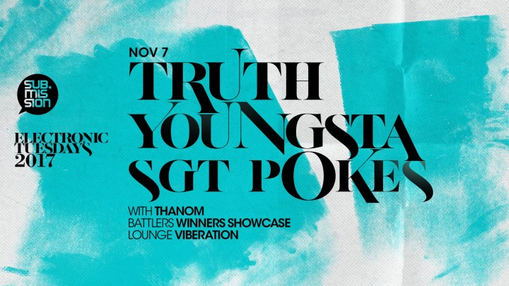 EVENT SPOTLIGHT & TICKET GIVEAWAY: Electronic Tuesdays – Shadow People Album Launch Party (Truth x Youngsta) hosted by Sgt Pokes at The Black Box Nov 7th