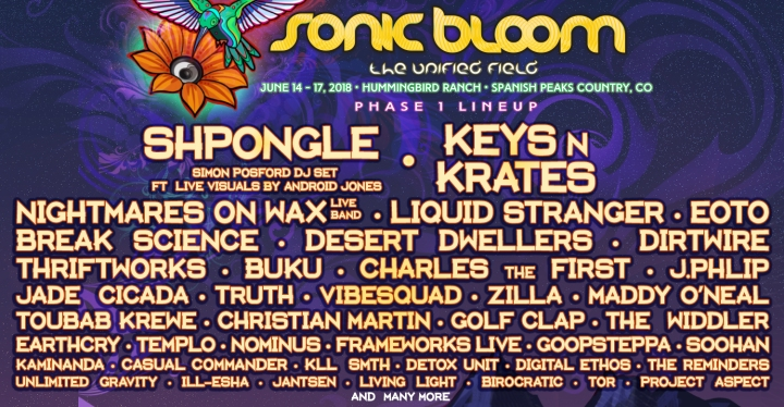 SONIC BLOOM 2018 – Phase 1 Line-Up Announced + My BLOOM STAFF STORY + GET INVOLVED & MAKE AN IMPACT!