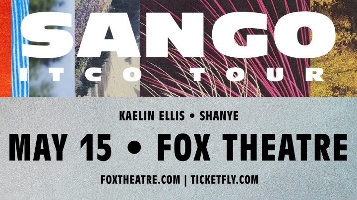 ARTIST SPOTLIGHT & TICKET GIVEAWAY: Sango at Fox Theatre 5/15/18